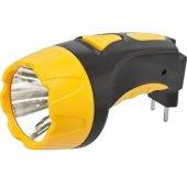 Фонарь светодиодный NPT-CP03-ACCU 4LED аккумуляторный с вилкой для зарядки пластик (94 951); 18631
