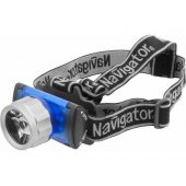 Фонарь налобный светодиодный NPT-H02-3AAA1LED 1Вт пластик (94 949); 18629
