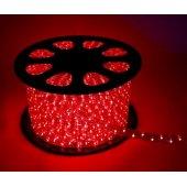 Шнур светодиодный Дюралайт свечение с динамикой 3W 220В 1.6Вт/м d13мм (упак.100м) IP44 красный; KOC-DL-3W13-R
