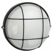 Светильник 94 809 NBL-R2-100-E27/BL (НПБ 1102 черный круг решетка 100Вт) IP54; 4607136948099