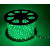 Шнур светодиодный Дюралайт постоянного свечения 2W 220В 1.6Вт/м d13мм (упак.100м) IP44 зеленый; KOC-DL-2W13-G