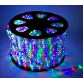 Шнур светодиодный Дюралайт свечение с динамикой 3W 220В 1.6 Вт/м d13мм (упак.100м) IP44 мультиколор; KOC-DL-3W13-RGB