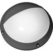 Светильник 94 846 NBL-PR3-12-4K-BL-SNR-LED (аналог НПБ 1107 черный круг с реснич. с датчиком); 4607136948464