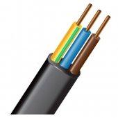 Силовой кабель ВВГ-П нг (А) LS 3х1.5-ок-06ТРТС однопроволочный плоский|М000560 МАГНА