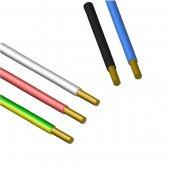 Силовой одножильный провод ПУВ (ПВ-1) 1х2.5 желто-зеленый бухта однопроволочный|0309906050 АЛЮР