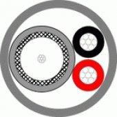 КВК-В+2х0,5 кабель комбинированный для систем видеонаблюдения