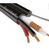 КВК-Пт-2 2х0,75 кабель комбинированный для систем видеонаблюдения с несущим тросом