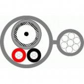 КВК-Пт-3ф 2х0,5 кабель комбинированный для систем видеонаблюдения с несущим тросом
