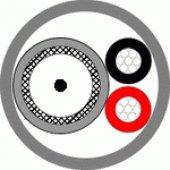 КВК-П-3ф 2х0,5 (черный) кабель комбинированный для систем видеонаблюдения