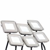 Набор KT-S-6x0.6W LED Day White 12V (квадрат) (ARL, IP67 Металл, 1 год); 018235