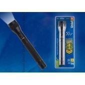 Охранный светодиодный фонарь от батареек 317х55 150лм S-LD041-C черный; 10175 Uniel