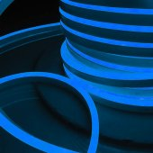 Светодиодный гибкий неон LS001 220V 9.6W 120LED 2835 IP67 односторонний синий 100м Elektrostandard a040594