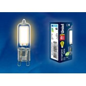 Лампа светодиодная LED-JCD G9 4Вт 3000K LED-JCD-4W/WW/G9/CL GLZ01TR; UL-00001815 Uniel