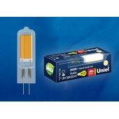 Лампа светодиодная LED-JC G4 4Вт 3000K LED-JC-220/4W/3000K/G4/CL GLZ08TR; UL-00005063 Uniel