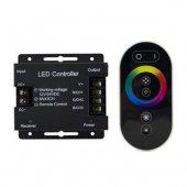 Контроллер для RGB 288W 24А с сенсорным пультом управления цветом (чёрный) Gauss 201113288