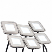 Набор KT-S-6x0.6W LED Warm White 12V (квадрат) (ARL, IP67 Металл, 1 год); 018234