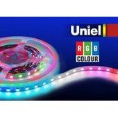 Светодиодная лента RGB 72W ULS 5050 60LED/m 10мм IP20 DC 24V 14.4вт/м 5м RGB; 04932 Uniel