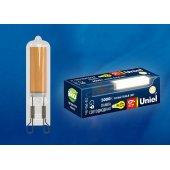 Лампа светодиодная LED-JCD G9 6Вт 3000K LED-JCD-6W/3000K/G9/CL GLZ08TR; UL-00005057 Uniel