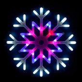 Подвесной светодиодный светильник «Снежинка» ULD-H4040-048/DTA MULTI IP20 SNOWFLAKE; UL-00001403 Uniel