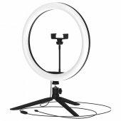 Светильник светодиодный кольцевой ДНБ-15ВТ, USB, пульт управления в комплекте (3 цветовые температуры) диаметр 30см, IP20 RL003