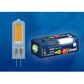 Лампа светодиодная LED-JC G4 4Вт 4000K LED-JC-220/4W/4000K/G4/CL GLZ08TR; UL-00005064 Uniel