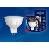 Лампа светодиодная Dim GU5.3 6Вт 3000K LED-JCDR 6W/WW/GU5.3/FR/DIM PLP01WH; UL-00003991 Uniel
