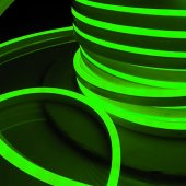 Светодиодный гибкий неон LS001 220V 9.6W 120LED 2835 IP67 односторонний зелёный 100м Elektrostandard a040596