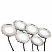 Набор KT-R-6x0.5W LED White 12V (круг) (ARL, IP67 Металл, 1 год); 018239