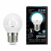 Лампа светодиодная Gauss 1051 E27 6.5Вт 4100K 105102207