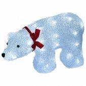Фигура светодиодная «Белый медведь» 40 светодиодов 34x12x23 см IP20 ULD-M3423-040/STA; 07954