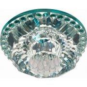Светильник потолочный встраиваемый (ИВО) JD125, декоративный JCD9 G9, прозрачный, полушар, 100*100*60 мм, монтажн.отв. 56мм,  цветок; 28462