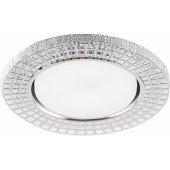 32651; Светильник встраиваемый с белой LED подсветкой CD4028 потолочный GX53 без лампы прозрачный