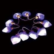 Гирлянда 3V 10 LED белый, цвет стекла: фиолетовый, 0.06W, 20mA, батарейки 2*АА, IP 20, 0,5м+шнур 0,5м х0,12мм, CL551 26765