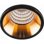 Светодиодный светильник LN003 встраиваемый 3W 4000K черный с золотом; 29697