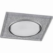 40517; Светильник встраиваемый с белой LED подсветкой CD4040 потолочный GX53 без лампы, серебро,  хром
