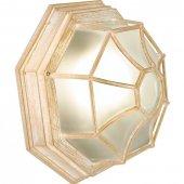 11652; Светильник садово-парковый PL661  60W E27 230V, белое золото