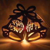 Деревянная световая фигура, 1 лампа накаливания, цвет свечения: теплый белый, 29x5x24cm, шнур 1,4 м, IP20, LT067; 26825