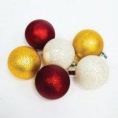 Световые фигуры. Цвет стекла: 2 шт. золотые, 2 шт. серебряные, 2шт. красные; 1,5V, 6LED (теплый белый), батарейки 6xААА, 1xCR2025, 0.03W, 8x10см, с контроллером, LT121; 26978