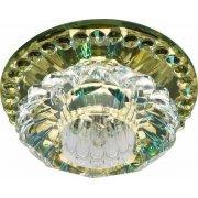 Светильник потолочный встраиваемый (ИВО) JD125, декоративный JCD9 G9, желтый, полушар, 100*100*60 мм, монтажн.отв. 56мм,  цветок; 28463