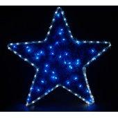 26713; Световая фигура 230V4м LED  белый+синий, 24 LED/1м, 4.8W, 20mA, IP 44, шнур 1,5м х 1мм, LT015