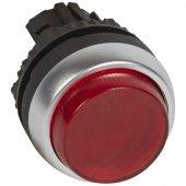 024012; Головка с пружинным возвратом ∅ 22,3 Osmoz для комплектации с подсветкой с выступающим толкателем зеленый