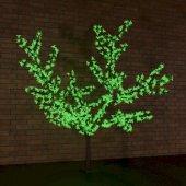 """531-104; Светодиодное дерево """"Сакура"""", высота 1.5м, диаметр кроны 1.8м, зеленые светодиоды, IP65, понижающий трансформатор в комплекте,"""