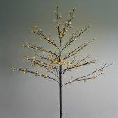 """531-241; Дерево комнатное """"Сакура"""", коричневый цвет ствола и веток, высота 1.2 метра, 80 светодиодов желтого цвета, трансформатор IP44"""
