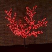 """531-102; Светодиодное дерево """"Сакура"""", высота 1.5м, диаметр кроны 1.8м, красные светодиоды, IP65, понижающий трансформатор в комплекте,"""