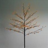"""531-247; Дерево комнатное """"Сакура"""", коричневый цвет ствола и веток, высота 1.2 метра, 80 светодиодов теплого белого цвета, трансформатор IP44"""
