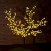 """531-101; Светодиодное дерево """"Сакура"""" высота 1.5м, диаметр кроны 1.8м, желтые светодиоды, IP65, понижающий трансформатор в комплекте,"""