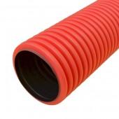PR15.0129; Труба гофрированная двустенная ПНД жесткая тип 750 (SN16) красная Ø110 5.7м (34.2м/уп)