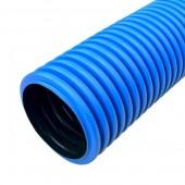 PR15.0123; Труба гофрированная двустенная ПНД жесткая тип 450 (SN12) синяя Ø110 5.7м (34.2м/уп)