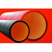 160920A-6K Труба жесткая двустенная для электропроводки и кабельных линий, в комплекте с соединительной муфтой, наружный ф200мм, жесткость 6 кПа, цвет чёрный, длина 6 м (цена за 1м)