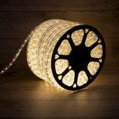 121-256-4; Дюралайт LED, эффект мерцания (2W) - теплый белый Эконом 24 LED/м , бухта 100м
